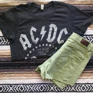 Lee denim distressed cut-offs!
